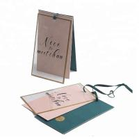 Buy cheap Gold Foil Border Custom Folded Hang Tags , Custom Price Tags For Clothing / Gifts from wholesalers