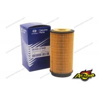 Buy cheap Original Yellow Car Engine Oil Filter OEM 26320-27000 Removal Dust For HYUNDAI product