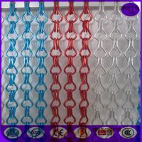 Buy cheap Hanging Double Hooks aluminum Striple Chain Fly Screen For Door Curtain from wholesalers