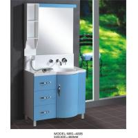 Buy cheap Light blue round Type Hanging Bathroom vanity double sink 92 X 48 / cm artificial stone Basin from wholesalers