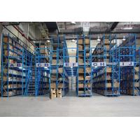 Buy cheap 150 - 500kg Multi Layer Mezzanine Racking System 2 - 3 Floor Manual Operation from wholesalers