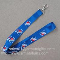 Buy cheap Tailored full color imprint promotional neck straps, tailor made promotional neck ribbon, from wholesalers