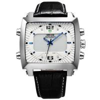 Buy cheap Men Luxury Brand leather Watch Sports Diver Watch Analog-Digital LED Display Waterproofed from wholesalers