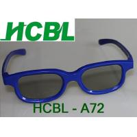 Buy cheap Blue ABS Frame Chromadepth 3D TV Glasses With 0.26mm Thicken TAC Polarized Lens from wholesalers