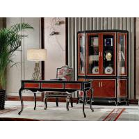 Buy cheap Luxury Home office Furniture set Ebony wood Bookcase cabients and Reading desk in glossy painting with Writing chairs from wholesalers