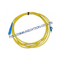 Buy cheap Simplex Singlemode Fiber Optic Cable Patch Cord For FTTH Systems, Low Insertion Loss from wholesalers