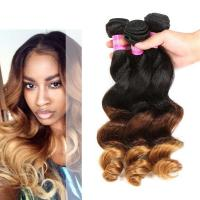 Buy cheap Peruvian Loose Wave Ombre Human Hair Extensions 3 Tone Ombre Hair Weave from wholesalers