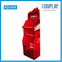 Buy cheap Corrugated paper cardboard Floor display stand for products promotion from wholesalers