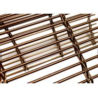 Buy cheap Copper Color Architectural Wire Mesh Panels Woven With Cables & Rods For Facades from wholesalers