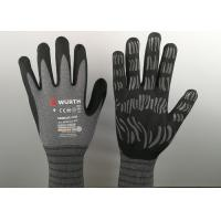 Buy cheap Micro Foam Insulated Nitrile Gloves , Nitrile Dipped Gloves Raised Grain Pattern from wholesalers