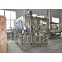 Buy cheap SUS304 Fully Automatic Filling Machine , 15000BPH Beverage 3 In 1 Filling Machine from wholesalers