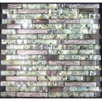 Buy cheap Ceramic and Glass Mix Tile Mosaic, strip glass mosaic from wholesalers