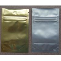 Buy cheap Aluminum Foil Ziplock Bags / Stand Up Packaging Pouches For Seeds product