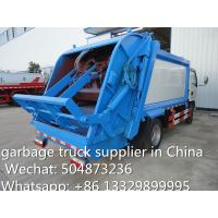 Buy cheap hot sale small garbage compactor truck, 4cbm dongfeng refuse garbage truck, China made best price smallest garbage truck from wholesalers
