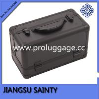 Buy cheap Rectangle solid black ABS cosmetic train case from wholesalers