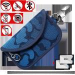Buy cheap Car Key Faraday Cage Bag For Keyless Fobs Denim RFID Blocking Anti Tracking from wholesalers