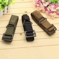 Buy cheap 2015 fashion 48 Canvas Military Tactical Belts Black Slider Buckle 3 Colors belts for men from wholesalers
