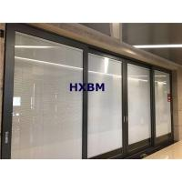 China European style double glazed powder coated aluminium sliding glass doors for commercial project on sale