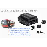 Buy cheap 1TB HDD Support 4 Channels 720P AHD Cameras Car DVR Recorder 3G / 4G GPS WIFI product