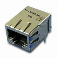 Buy cheap cat5 21.3mm 10 pin RJ45 to rj11 female ethernet connector with EMI CE from wholesalers