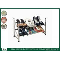 Buy cheap Customized metal shoe display racks shelf storage unit two layer , Power coated from wholesalers