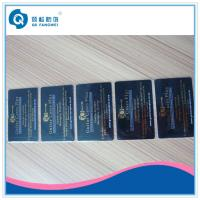 Buy cheap Gold Plastic Business Card Printing Hot Stamping Foil PVC Business Cards from wholesalers