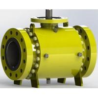 Quality Safe Carbon Steel  Trunnion Mounted Ball Valve with Self Relieving Seat Rings for sale