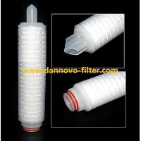 Buy cheap 5 Micron Polypropylene Membrane PP Pleated Water Filter Cartridge from wholesalers