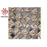 Buy cheap HTY - TS 300 300*300 Good Quality Silve Color Plating  Ceramic Glass Metal Mosaic Tile from wholesalers