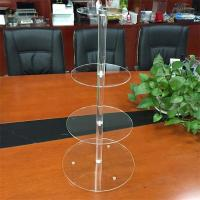 Buy cheap clear acrylic 4 tier round cake display racks cupcake stand for birthday cake display rack from wholesalers