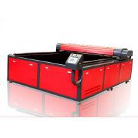 Printed Textile Fabric Laser Cutting Machine , Vision High Speed 300w Laser Cutter