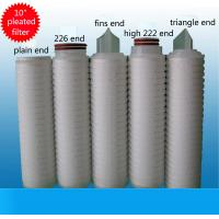 Buy cheap 10 Inch PP Pleated Filter Cartridge PP Membrane Filter Cartridge For Water Purifier from wholesalers