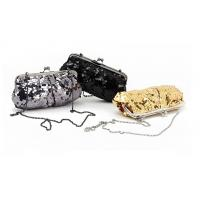 Buy cheap Grey Black and Golden color sequin material Excellent design clutch bag wholesale from wholesalers
