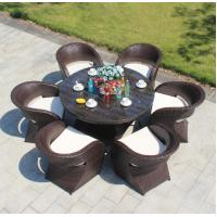 Buy cheap All weather Outdoor Garden Patio chair and table Aluminium PE Rattan chairs For from wholesalers