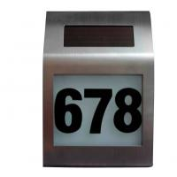 Buy cheap solar house number plate from wholesalers