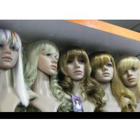 Buy cheap Custom Blonde Wavy Human Hair Full Lace Synthetic Wigs Glueless Heat Resistant from wholesalers