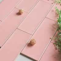 Buy cheap Decorative Pink Ceramic Bathroom Wall Tiles 4 X 12 Subway Tile Glazed product