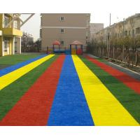 Buy cheap PP & PE grass yarn 25mm height Dtex 9500 HIGH DENSITY 21000 2m or 4m width 25m length kindergarten colorful runway from wholesalers