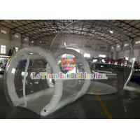 Buy cheap 0.9mm PVC Inflatable Airtight Tent With Pipe , Transparent Backyard Camping Tent product