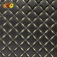 Buy cheap Anti Mildew PVC Artificial Leather Pvc Synthetic Leather With Embroidery Pattern product