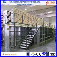 Buy cheap Steel Mezzanine Racking / Storage Racking 2-3 Layers Steel Floor with white blue orange colors from wholesalers