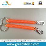 Buy cheap Delux Orange Safe Spiral Coil W/Metal Swivel Hook&Split Ring from wholesalers