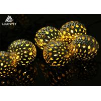Buy cheap Moroccan Ball Decorative LED String Lights Iron Material 3.5M 10 LEDs For Holiday from wholesalers