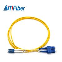 Buy cheap LC-SC Duplex Fiber Optic Patch Cord Single Mode Fibre Optic Patch Leads 1.6mm, 2.0mm, 3.0mm product