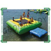 Buy cheap 6m x 5m Inflatable Water Games Floating Water Trampoline with Ramp from wholesalers