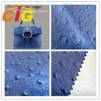Buy cheap Ostrich Embossed Polyurethane Leather Popular Customized Bags Artificial Leather Material from wholesalers