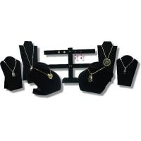 Buy cheap 7pcs SET BLACK VELVET NECKLACE EARRING PENDANT CHAIN JEWELRY DISPLAY STAND from wholesalers