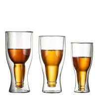 Buy cheap Borosilicate Double Wall Drinking Glasses , Clear Reusable Beer Pong Cups from wholesalers