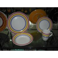 Buy cheap 16pc Color Band Handpainted Ceramic Fine white Porcelain Dinner Sets from wholesalers