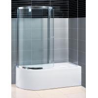 Buy cheap Two Panel Sliding Shower Bath Screen Curved ,  P Shaped Bath Folding Shower Screen from wholesalers